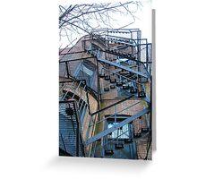Boston Back Stairs - Boston, MA, USA Greeting Card