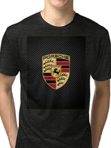 Stuttgart Carbon Fibre iPhone / Samsung Galaxy Case Tri-blend T-Shirt