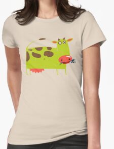 Green Cow Illustration T-Shirt