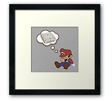 Mario Dreams of Dreamcast Framed Print