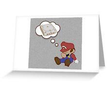 Mario Dreams of Dreamcast Greeting Card