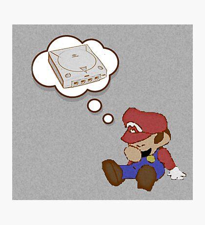 Mario Dreams of Dreamcast Photographic Print
