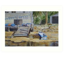 The Old Boat Shed - Woronora Art Print