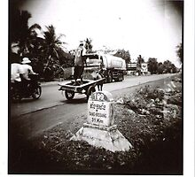 On the road, Cambodia by elodieF