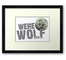 WERE WOLF werewolf with moon Framed Print