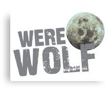 WERE WOLF werewolf with moon Canvas Print