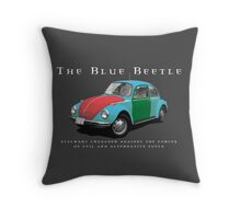 The Blue Beetle Throw Pillow