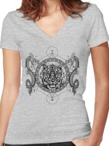 Mystic Tiger Women's Fitted V-Neck T-Shirt