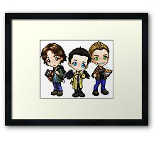 Team Free Will - Chibi Style Framed Print