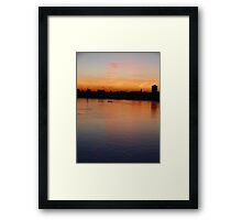 Picture Yourself in a Boat on the River Framed Print