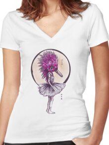 Ballechidna Women's Fitted V-Neck T-Shirt
