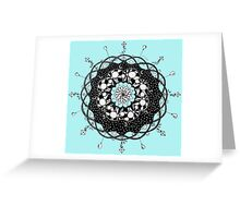 Blue Skies Mandala Greeting Card