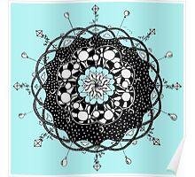 Blue Skies Mandala Poster