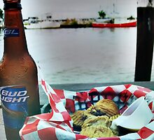 Beer & fried pickles by vickie willingham
