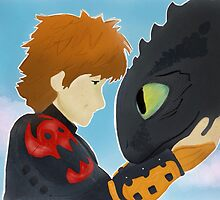 Toothless and hiccup by skcrew09