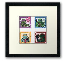 TMNT Valentine Framed Print