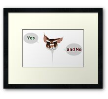 Yes. And No. Framed Print