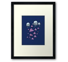 The Humans Are Coming Framed Print