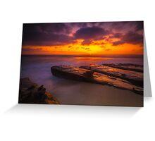 San Diego La Jolla Cove Sunset Greeting Card