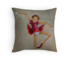 Petrushka the Ballerina Throw Pillow