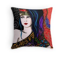 Slightly Psychedelia Throw Pillow