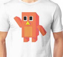 Orange Block Penguin Unisex T-Shirt