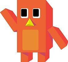Orange Block Penguin by ryceeball