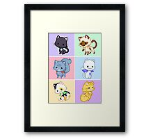 Cute Kittens with Wings! Framed Print