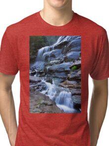 Bridal Veil Falls, Blue Mountains, NSW Tri-blend T-Shirt