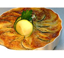Zucchini-Potatoe-Gratin Photographic Print