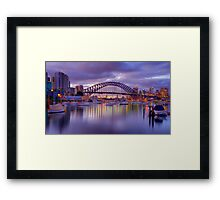 HDR bridge Framed Print