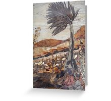 Evening-Blowing Wind Greeting Card