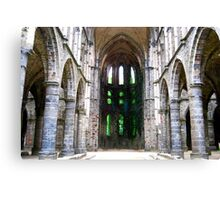 Abbaye Viller-la-Ville Canvas Print