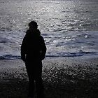 Lonely Silhouette... Eastbourne England by Qnita