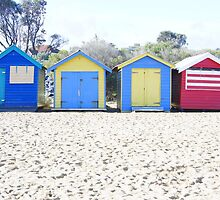 Brighton beach boxes by 2HPhotography