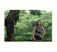 Model shoot in La Mesa Ecopark 2 Art Print