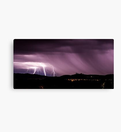 Lightning strikes near the National Arboretum Canvas Print