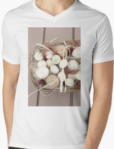 Eggs and feathers Mens V-Neck T-Shirt