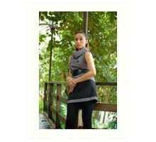 Model shoot in La Mesa Ecopark 8 Art Print