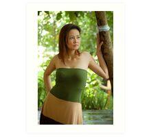 Model shoot in La Mesa Ecopark 9 Art Print