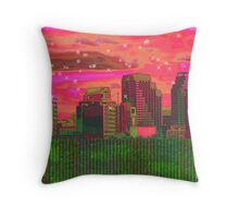 Inner City - Night Falls Throw Pillow