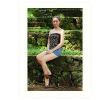 Model shoot in La Mesa Ecopark 11 Art Print