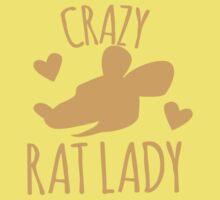 Crazy Rat lady in orange Kids Tee