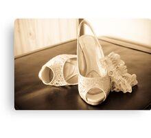 Bridal Shoes Canvas Print