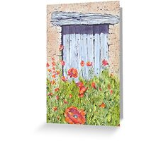 Old Barn Door, Chez Bourret, France Greeting Card