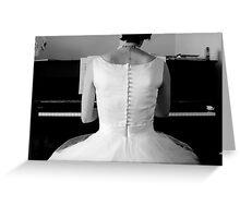 Bridal Piano Player Greeting Card
