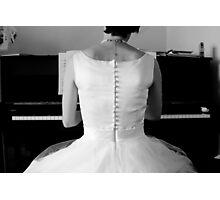 Bridal Piano Player Photographic Print