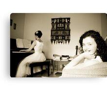 Musical Bride Canvas Print
