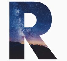 The Letter R - night sky by Dorian Designs