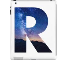 The Letter R - night sky iPad Case/Skin
